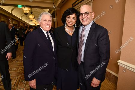 Stock Picture of Dan Fellman, Cheryl Boone Isaacs and Jeff Goldstein