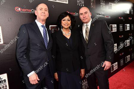 Christopher Aronson, Cheryl Boone Isaacs and Jim Orr