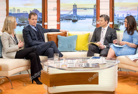 Stock Photo of Fiona Millar and Alastair Campbell with Ben Shephard and Susanna Reid