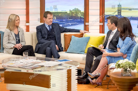 Fiona Millar and Alastair Campbell with Ben Shephard and Susanna Reid