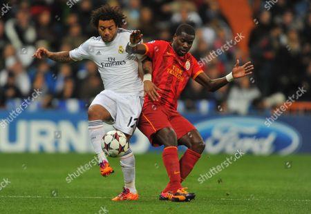 Marcelo Vieira(Real Madrid) - Emmanuel Eboue (Galatasaray)