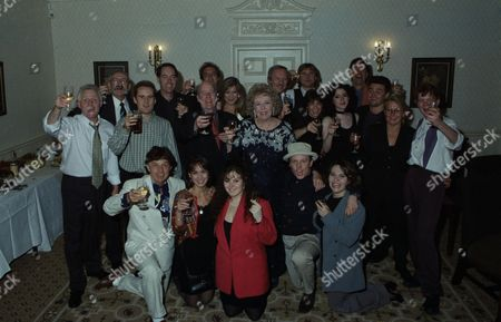 Stock Image of Cast attend 21st Birthday party, pictured: Christopher Chittell, Stan Richards, Clive Hornby, Peter Amory, Martin Dale, Ronald Magill, Alun Lewis, Claire King, Sheila Mercier, Deena Payne, Naomi Lewis, Norman Bowler, Matthew Vaughan, Glenda McKay, Fraser Hines, Leah Bracknell, Nicola Strong, Cy Chadwick and others.