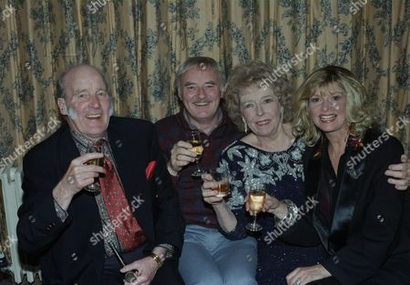 Cast attend 21st Birthday party, pictured: Ronald Magill, Frederick Pyne, Sheila Mercier and Jean Rogers