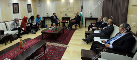 Palestinian Prime Minister Rami Hamdallah meets with Secretary General of the Labour Party Iain McNicol