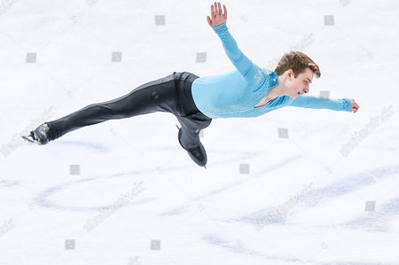 Stock Picture of Graham Newberry of Great Britain performs during the Men's Short Program