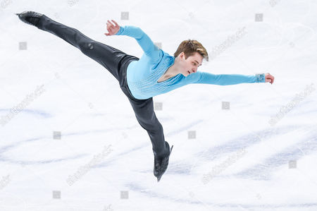 Stock Image of Graham Newberry of Great Britain performs during the Men's Short Program
