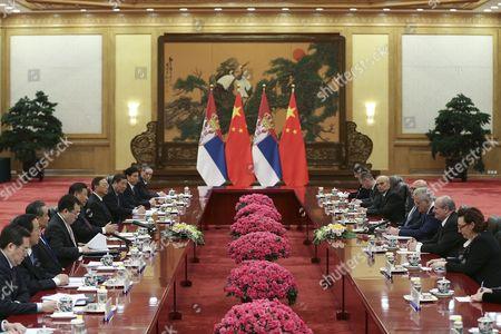 Xi Jinping and Tomislav Nikolic