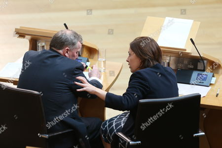 Alex Rowley, Deputy Leader of the Scottish Labour Party, and Kezia Dugdale, Leader of the Scottish Labour Party