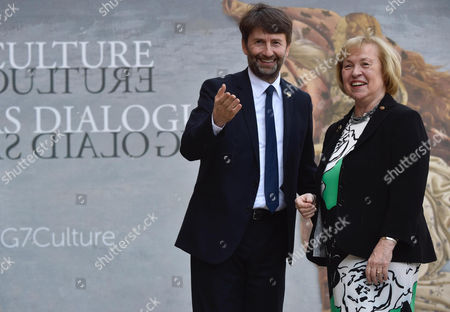 Stock Photo of Maria Bohmer and Dario Franceschini