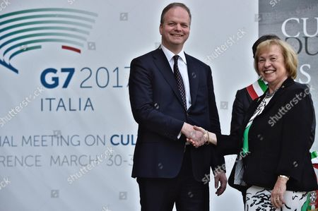 Editorial photo of Cultural G7 Summit in Florence, Italy - 30 Mar 2017