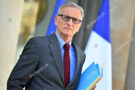 French Junior Minister for Territorial Reforms, Andre Vallini leaves the Elysee Presidential Palace after the weekly cabinet meeting
