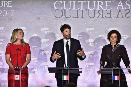 Melanie Joly, Dario Franceschini and Audrey Azoulay