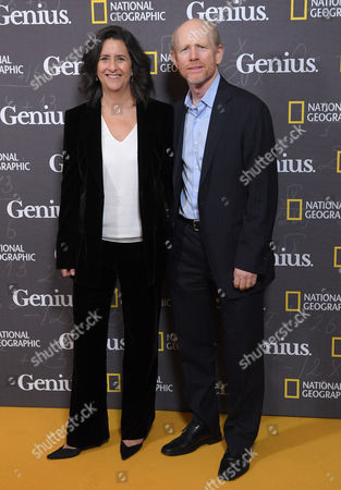 Gigi Pritzker and Ron Howard