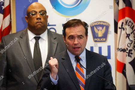 John Cranley, Eliot Isaac Cincinnati Mayor John Cranley speaks alongside Police Chief Eliot Isaac, left, during a news conference to announce the arrests of Cornell Beckley and Deondre Davis in connection to the Cameo nightclub shooting at police headquarters, in Cincinnati. At least two people opened fire inside a crowded nightclub early Sunday morning, killing one person and wounding more than a dozen others in what authorities described as a chaotic scene