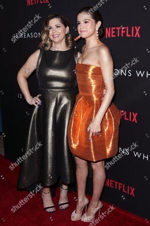 Mandy Teefey and Selena Gomez