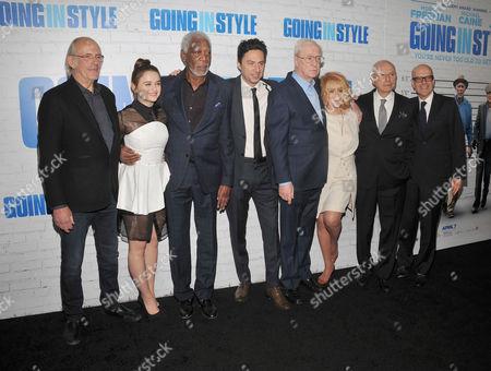 Christopher Lloyd, Joey King, Morgan Freeman, Zach Braff, Sir Michael Caine, Ann-Margaret, Alan Arkin and Donald de Line