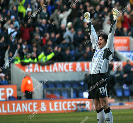 Paul Henderson of Leicester City celebrates the first goal