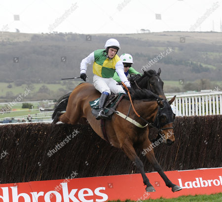 The Peter O'Sullevan National Hunt Steeple Chase Challenge Cup.Old Benny (Mr.C.Huxley) on his way to winning.