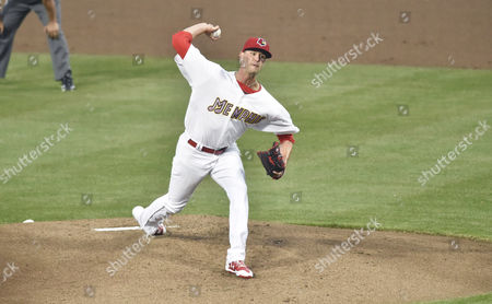 Memphis Redbirds pitcher Chris Ellis delivers a pitch during the first inning of an exhibition game against the St. Louis Cardinals at AutoZone Park in Memphis, TN. St. Louis won 9-3