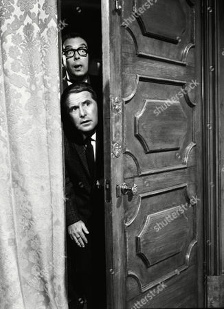 Unseen picture from the ITV archive shows: Eric Morecambe (as Eric Simpson) and Ernie Wise (as Ernest Clark) from the film 'That Riviera Touch' (1966) - the second feature-length film made by the comedy duo Morecambe and Wise. Two British jokers (Eric Morecambe, Ernie Wise) go on vacation and get mixed up with crooks plotting a jeheist on the Cote d'Azur.