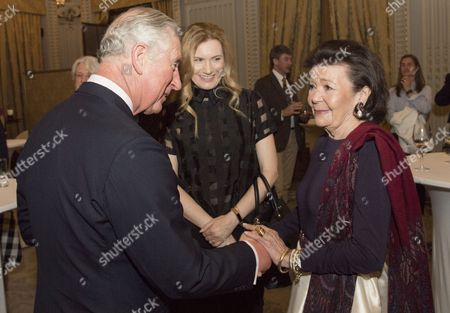 Prince Charles meets Princess Marina Sturdza in Bucharest when he attended a reception at The Hilton Hotel Bucharest