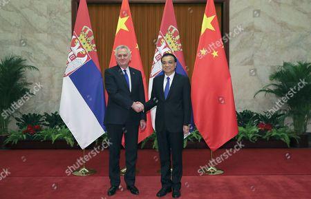 Li Keqiang and Tomislav Nikolic