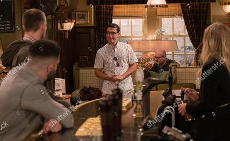 Finn Barton, as played by Joe Gill, returns from Australia. (Ep 7798 - Thur 13 April 2017)