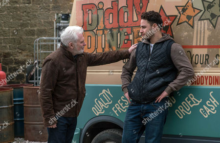 Ronnie, as played by John McArdle, is taken aback by Adam Barton's, as played by Adam Thomas, foul mood and encourages him to open up. As Adam pushes him away Ronnie retaliates and Adam falls. Will Ronnie comfort a tearful Adam? (Ep 7803 - Wed 19 April 2017)