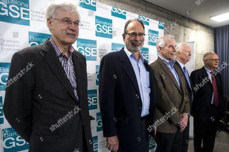Editorial photo of Nobel Laureates in Economy at the 10th anniversary of the Barcelona Graduate School of Economics, Spain - 31 Mar 2017