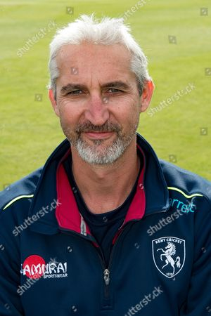 Jason Gillespie (Interim Assistant Coach) of Kent  during the Kent County Cricket Club Headshots 2017 Press Day at the Spitfire Ground, Canterbury