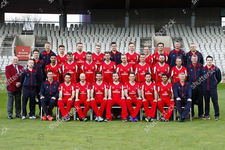 Lancashire County Cricket Club PhotoCall 2017 at Old Trafford, Manchester. Photo by Craig Galloway., Lancashire's squad in the T20 Blast Lancashire Lightning Red Kit., L-R: (Players only), Back Row - Jordan Clark, Daniel Lamb, Matthew Parkinson, Brooke Guest, Josh Bohannon, Rob Jones., Middle Row - Saqib Mahmood, Toby Lester, Jordan Clark, Tom Bailey, Liam Livingstone, Dane Vilas, Arron Lilley, Luke Procter., Front Row - Stephen Parry, Karl Brown, James Anderson, Steven Croft, Kyle Jarvis, Simon Kerrigan, Haseeb Hameed