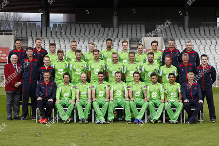 Lancashire County Cricket Club PhotoCall 2017 at Old Trafford, Manchester. Photo by Craig Galloway., Lancashire's squad in the One Day Cup Green Kit., L-R: (Players only), Back Row - Jordan Clark, Daniel Lamb, Matthew Parkinson, Brooke Guest, Josh Bohannon, Rob Jones., Middle Row - Saqib Mahmood, Toby Lester, Jordan Clark, Tom Bailey, Liam Livingstone, Dane Vilas, Arron Lilley, Luke Procter., Front Row - Stephen Parry, Karl Brown, James Anderson, Steven Croft, Kyle Jarvis, Simon Kerrigan, Haseeb Hameed
