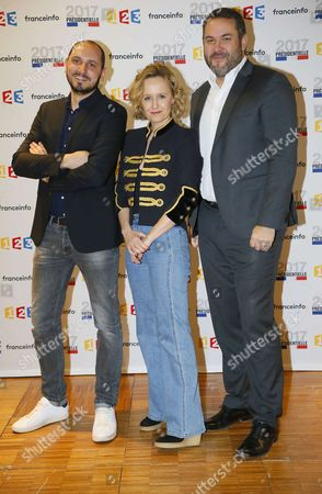 Stock Image of Karim Rissouli, Caroline Roux and Bruce Toussaint