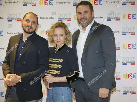 Karim Rissouli, Caroline Roux and Bruce Toussaint