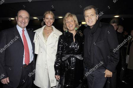 Michele Norsa, Valeria Mazza, Maria Franca Norsa and Mario Testino