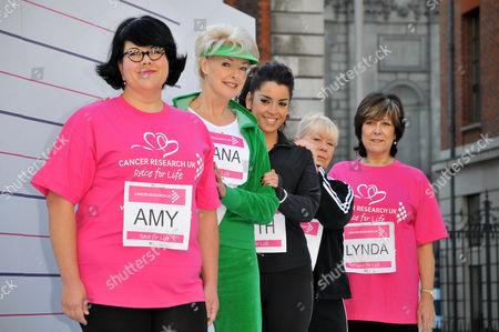 Comedienne Amy Lame, TV presenter Diana Moran, singer Ruth Lorenzo, actresses Laila Morse and Lynda Bellingham