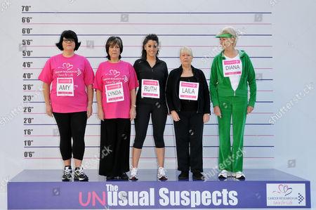 Amy Lame, Lynda Bellingham, Ruth Lorenzo, Laila Morse, and Diana Moran