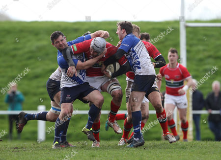 drive by Dan Williams of Plymouth Albion during the RFU National League One match between Macclesfield RUFC and Plymouth Albion on Saturday 1st April 2017 at Priory Park, Macclesfield