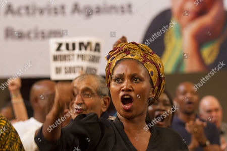 Supporters of late anti-apartheid activist Ahmed Kathrada attend his public memorial service in Johannesburg, South Africa, 01 April 2017. Kathrada, an anti-apartheid struggle icon and close friend of the late former South African President, Nelson Mandela died on 28 March. The memorial was supposed to be hosted by the President Zuma led government but was cancelled by them suddenly, leaving the Nelson Mandela Foundation, the South African Communist Party and the Ahmed Kathrada Foundation to host the event.