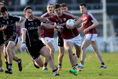 Sligo vs Galway. Sligo's Paul McNamara with Michael Daly of Galway