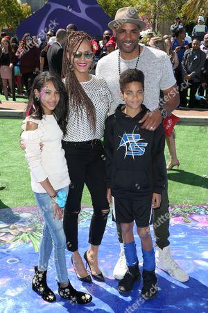 Nicole Ari Parker, Boris Kodjoe, daughter Sophie Tei-Naaki Lee Kodjoe and son Nicolas Neruda Kodjoe