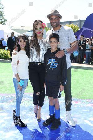 Stock Image of Nicole Ari Parker, Boris Kodjoe, daughter Sophie Tei-Naaki Lee Kodjoe and son Nicolas Neruda Kodjoe