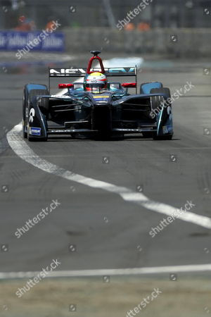 British Oliver Turvey of Nextev NIO in action during the qualification session of the Formula E at Hermanos Rodriguez race track in Mexico City, Mexico, 01 April 2017.
