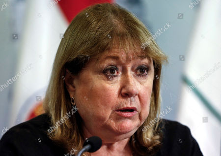 Argentina's Foreign Minister, Susana Malcorra, speaks during a press conference, in Buenos Aires, Argentina, . The South American trade bloc called an emergency meeting of Mercosur nations' foreign ministers to discuss the Venezuelan political crisis which suspended Venezuela in December