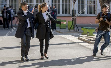 Presidential candidate and former president of the United Nations General Assembly, Vuk Jeremic and his wife Natasa leave a a polling station during the Serbian Presidential elections, in Belgrade, Serbia, 02 April 2017. Eleven candidates are running for the office of the President of the republic of Serbia, the term of office that will last five years and begin from the day of taking of the oath before the National Assembly.