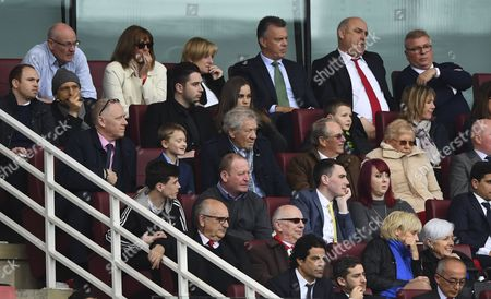 Sir Ian McKellan looks on during the Premier League match between Arsenal and Manchester City played at the Emirates Stadium, London on 2nd April 2017