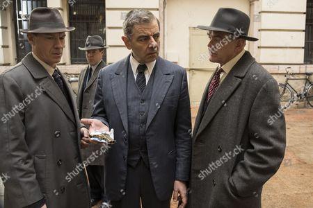 'Maigret - Night at the Crossroads' - Rowan Atkinson as Maigret, Shaun Dingwall as Janvier and Kevin McNally as Grandjean.