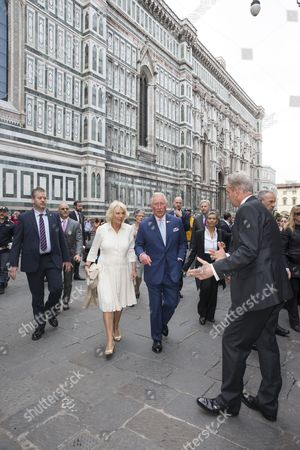 Prince Charles and Camilla Duchess of Cornwall visit a local market to celebrate the Slow Food movement in Florence, Italy. Slow Food is a global, grassroots organization, founded in 1989 by Carlo Petrini to prevent the disappearance of local food cultures and traditions, to counteract the rise of the fast food culture. It is an international movement involving millions of people in over 160 countries.