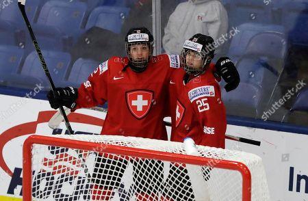 Editorial image of Switzerland Germany Hockey, Plymouth, USA - 03 Apr 2017