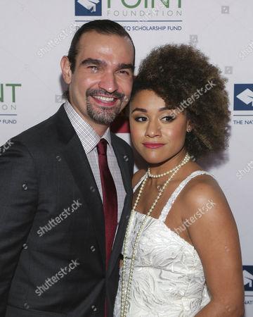 Javier Munoz (L), Ariana DeBose,